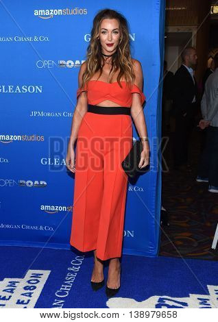 "LOS ANGELES - JUL 14:  Courtney Sixx arrives to the ""Gleason"" Los Angeles Premiere on July 14, 2016 in Los Angeles, CA"