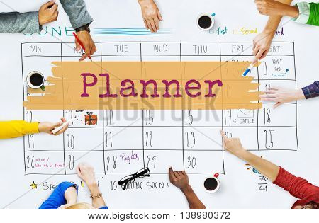 Planner Agenda Reminder Calendar To Do Concept