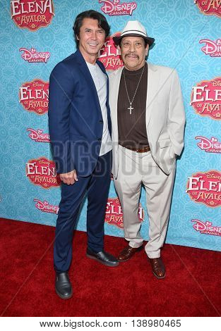 "LOS ANGELES - JUL 16:  Lou Diamond Phillips & Danny Trejo arrives to the Disney Channel's ""Elena of Avalor"" Los Angeles Premiere on July 16, 2016 in Beverly Hills, CA"