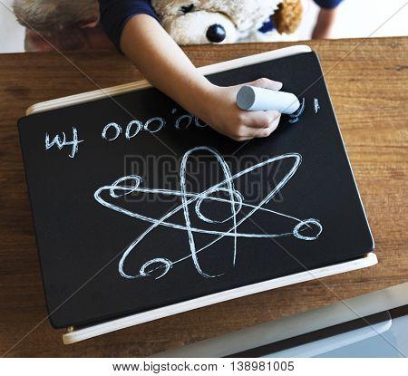 Kid Childhood Writing Science Math Concept