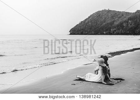 Beach Beauty Casual Energy Friendship Concept