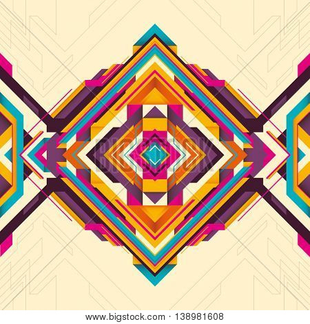 Geometric background with abstract shapes. Vector illustration.