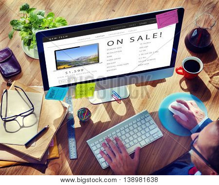 On Sale Shopping Online Internet Website Concept