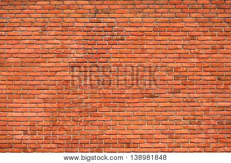 red old brick wall background for design
