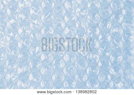 Closeup of plastic bubble wrap