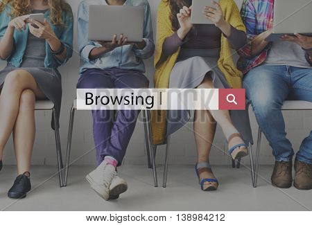 Browsing Searching Internet Online Browse Concept
