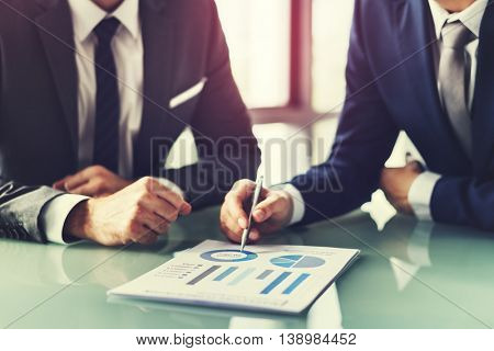 Men Talking Business Analysis Concept