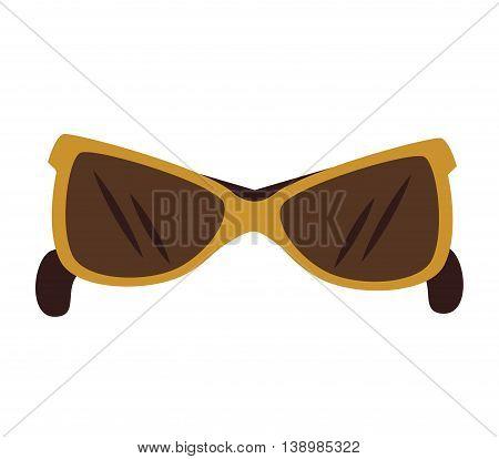 Sunglasses fashion accesorie, isolated flat icon design.