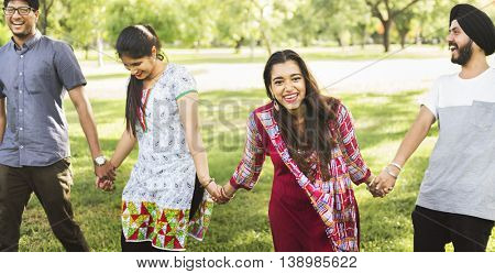 Indian Ethnicity Friendship Togetherness Concept