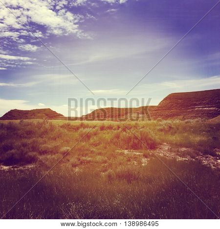 Instagram effect - Alberta Landscape with hills