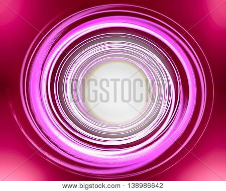 Abstract pink red spiral over dark background
