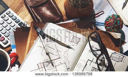 Architecture Engineering Design Sketch Table Concept