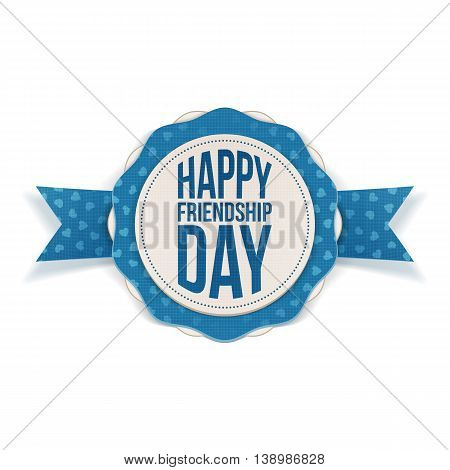 Happy Friendship Day realistic Banner. Vector Illustration