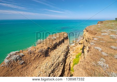 Beautiful nature edge and seascape. Composition of nature.
