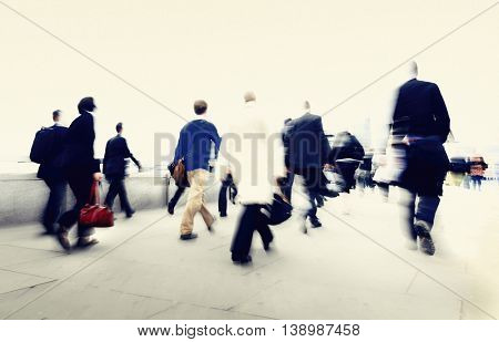 Business People New York Commuter Concept