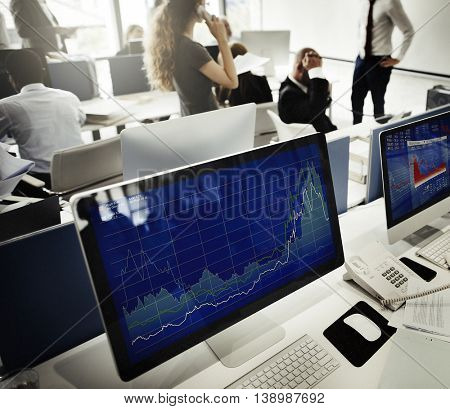 Business Team Finance Stock Exchange Busy Concept