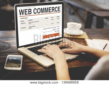 E-commerce Online Shopping Website Technology Concept