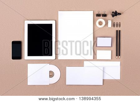 Photo. Template for branding identity. For graphic designers presentations and portfolios. Mock-up, mock up, mockup, branding, brand, template, identity, stationary, stationery poster