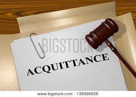 Acquittance Legal Concept