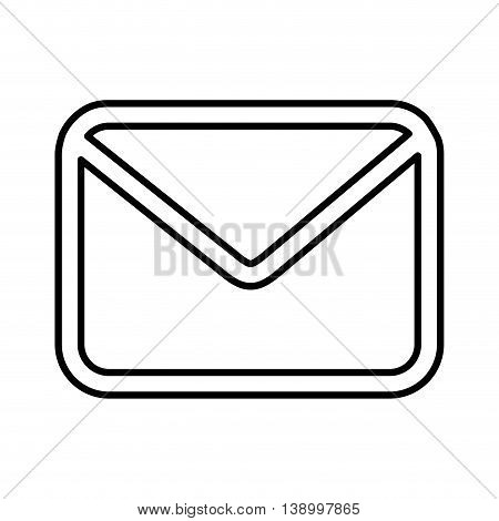 message text and voicemail,  isolated lineal vector