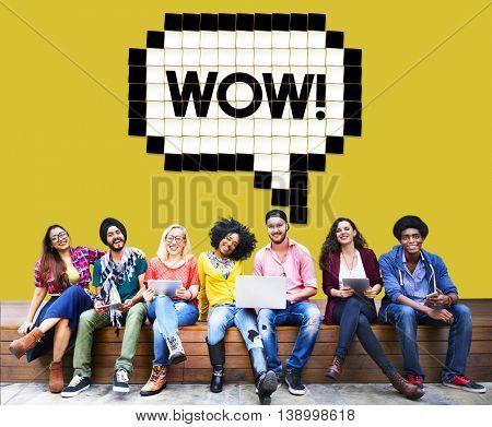 Expression Words Emotion Communication Slang Concept