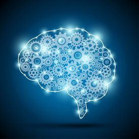 Brain of an artificial intelligence. Automation and AI concept.