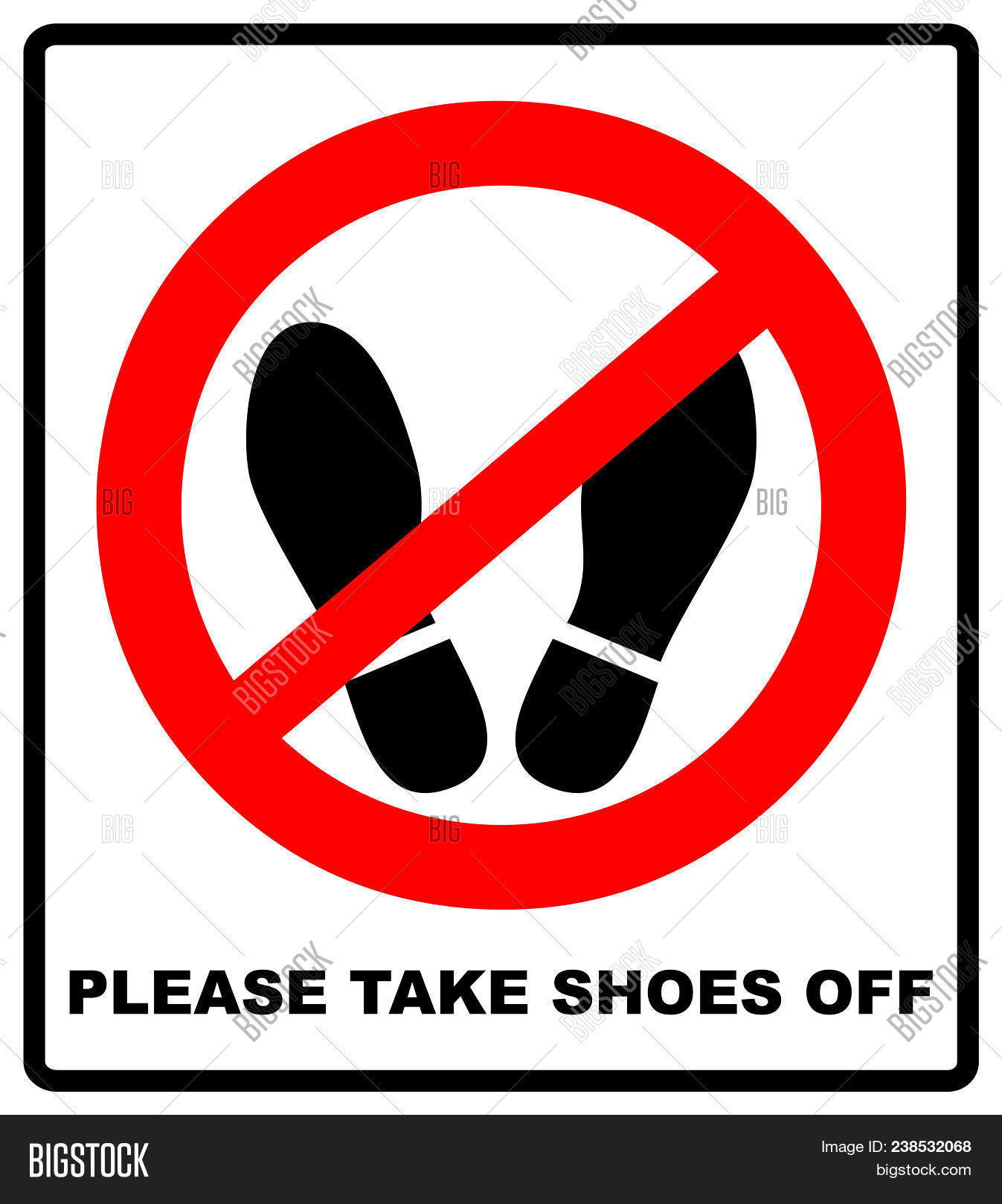 graphic about Please Take Off Your Shoes Sign Printable identify You should Consider Sneakers Off Graphic Picture (Absolutely free Demo) Bigstock