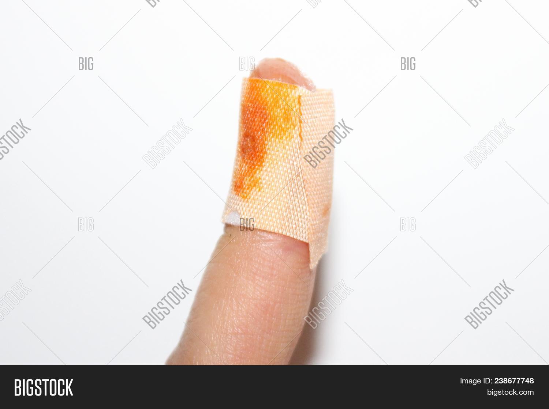 Bandage On Fingertip Image Photo Free Trial Bigstock