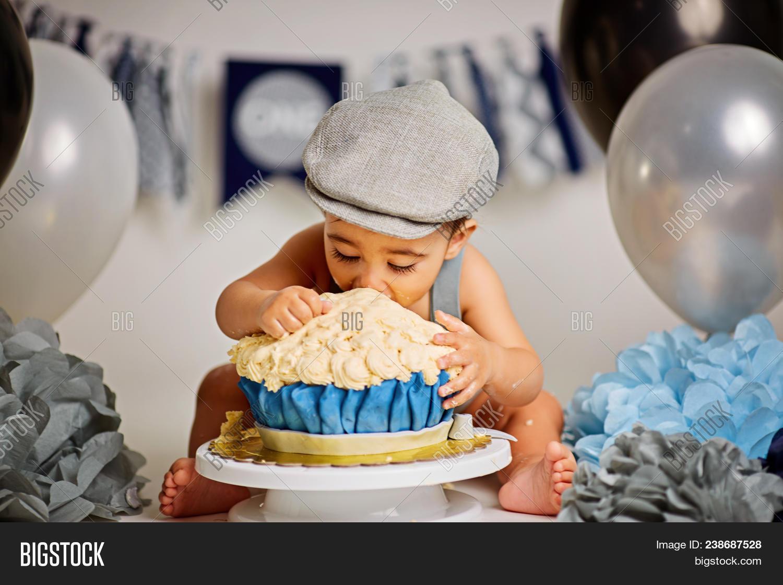 Brilliant One Year Old Baby Boy Image Photo Free Trial Bigstock Funny Birthday Cards Online Inifodamsfinfo