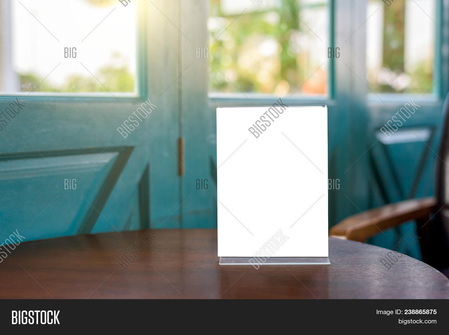 Table Tent Blank Menu Image Photo Free Trial Bigstock - Wooden table tents