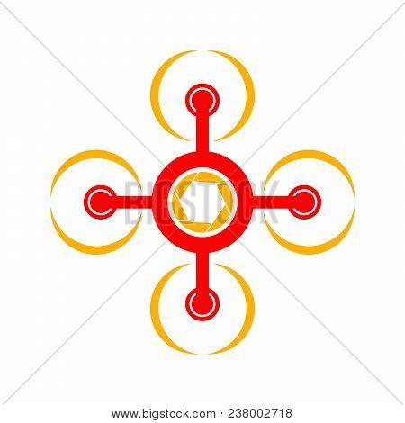 Aero Flying Drone Photography Vector Symbol Graphic Logo Design