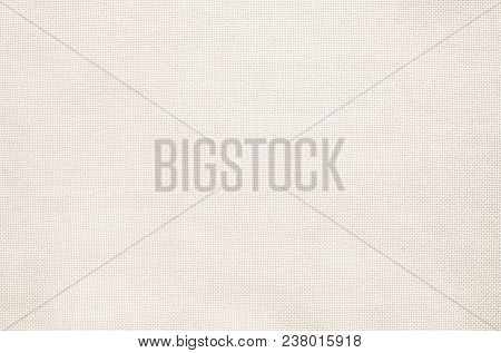 Pastel Abstract White Fabric Texture Background. Wallpaper Or Artistic Wale Linen Canvas. Closeup De