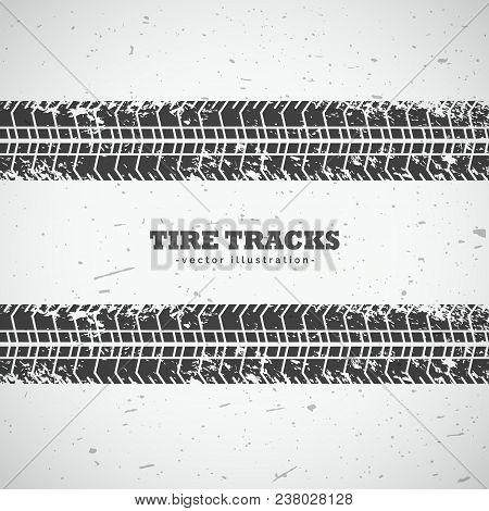 Vector Tire Tracks Mark Background Design Illustration