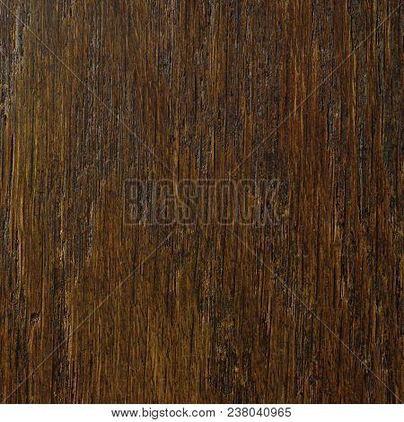 Oak Grain Veneer Texture Background, Dark Black Brown Natural Vertical Scratched Textured Pattern, L