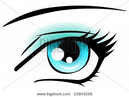 blaue Augen