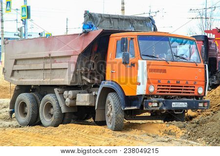 The Kamaz Truck In Work