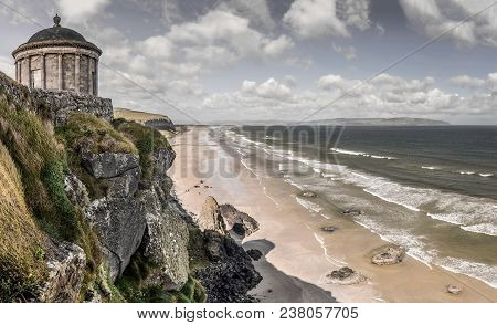 A View Of The Mussenden Temple At Dowhill.