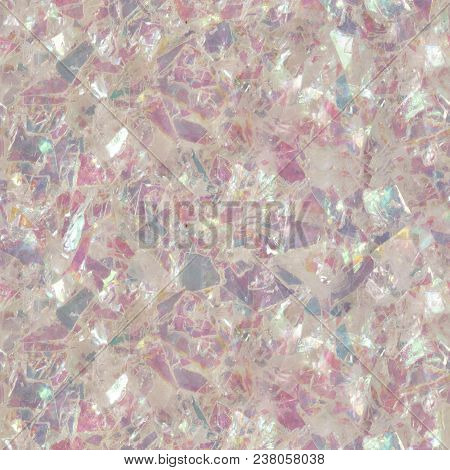 Abstract Shiny Pink Glitter Texture. Low Contrast Photo. Seamless Square Texture. Tile Ready.