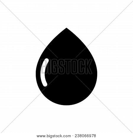 Drop Icon In Flat Style Weather Symbol Isolated On White Background Water Drop Vector Icon The Symbo