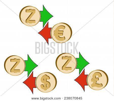 Exchange Zcash To Dollar , Euro And British Pound , Coins Of Zcash And Dollar, Euro And British Poun
