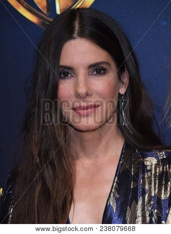 LOS ANGELES - APR 24:  Sandra Bullock arrives for the Warner Bros panal at CinemaCon 2018 on April 24, 2018 in Las Vegas, NV