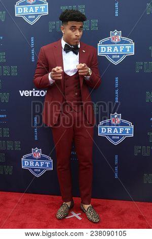 ARLINGTON, TX - Jaire Alexander attends the 2018 NFL Draft at AT&T Stadium on April 26, 2018 in Arlington, Texas.