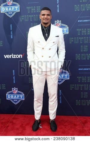 ARLINGTON, TX - Minkah Fitzpatrick attends the 2018 NFL Draft at AT&T Stadium on April 26, 2018 in Arlington, Texas.