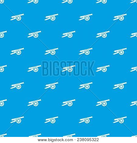 Enemy Cannon Pattern Vector Seamless Blue Repeat For Any Use