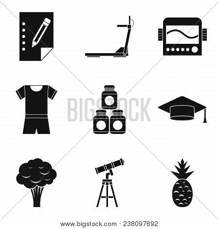 Beneficial Properties Icons Set. Simple Set Of 9 Beneficial Properties Vector Icons For Web Isolated