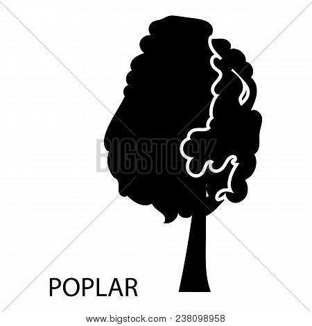 Poplar Icon. Simple Illustration Of Poplar Vector Icon For Web