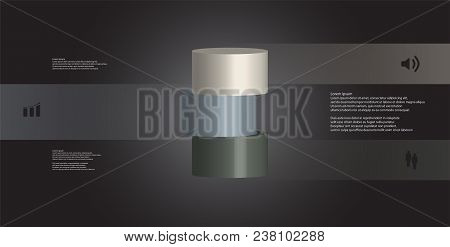 3d Illustration Infographic Template With Motif Of Sliced Cone To Six Color Parts Which Are Shifted,