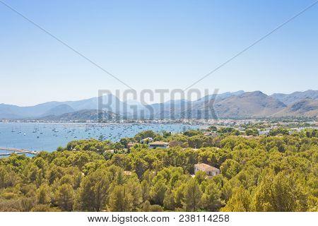 Port De Pollenca, Mallorca, Spain - Surrounded By Wood Land You Will Find Port De Pollenca