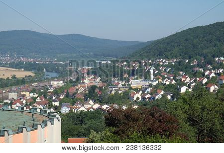 GEMUNDEN, GERMANY - JULY 06: Gemunden am Main is a town in the Main-Spessart district in the Regierungsbezirk of Lower Franconia in Bavaria, Germany on July 06, 2017.