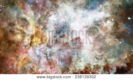 High Definition Star Field Background. Starry Outer Space Background. Colorful Starry Night Sky. Out